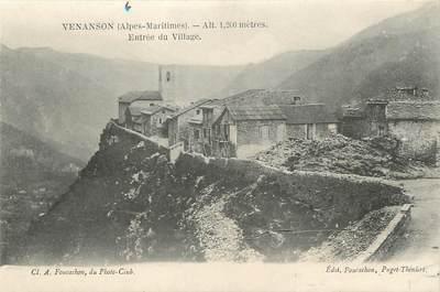 """/ CPA FRANCE 06 """"Venanson, entrée du village"""""""