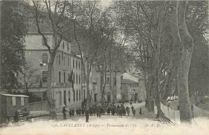 "/ CPA FRANCE FRANCE 09 ""Lavelanet, promenade de l'Ile"""
