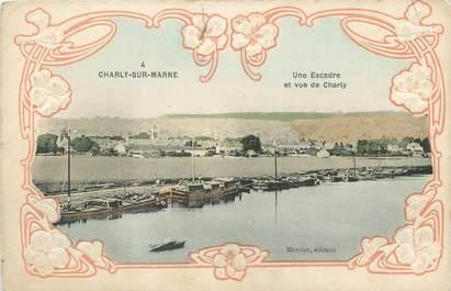 "/ CPA FRANCE 02 ""Charly sur Marne, une escadre et vue de Charly"""
