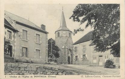 """/ CPA FRANCE 23 """"Clocher de l'église de Dontreix"""""""