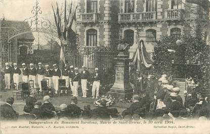 "/ CPA FRANCE 22 ""Saint Brieuc, inauguration du monument Baratoux"""