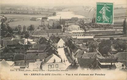 """/ CPA FRANCE 21 """"Arnay le Duc, vue à vol d'oiseaux sur Fouchey"""""""