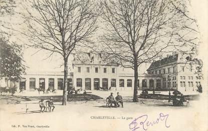 "/ CPA FRANCE 08 ""Charleville, la gare"""