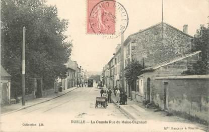 "/ CPA FRANCE 16 ""Ruelle, la grande rue du Maine Gagnaud"""