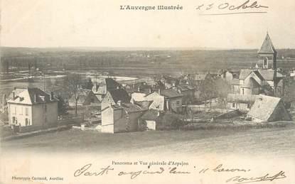 """/ CPA FRANCE 15 """"Panorama et vue générale d'Arpajon"""""""