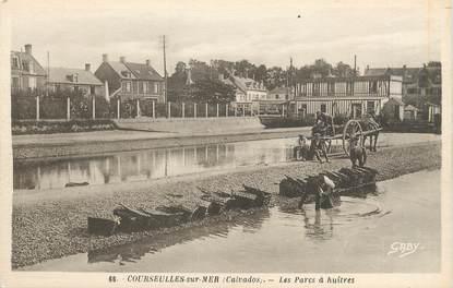 """/ CPA FRANCE 14 """"Courseulles sur Mer, les parcs aux huitres """""""