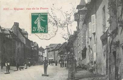 """/ CPA FRANCE 12 """"Rignac, rue de la poste"""""""
