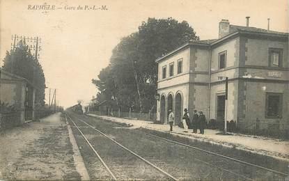 """CPA FRANCE 13 """"Raphele, la gare"""" / TRAIN"""