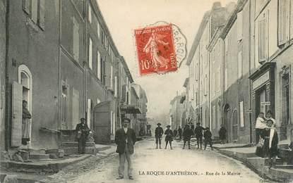 """CPA FRANCE 13 """"La Roque d'Anthéron, rue de la Mairie"""""""