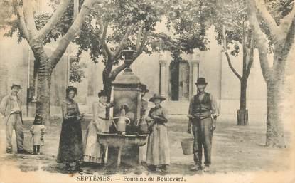 """CPA FRANCE 13 """"Septêmes, la fontaine du Boulevard"""""""