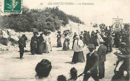 "CPA FRANCE 13 ""Saintes Maries de la Mer, une procession"""