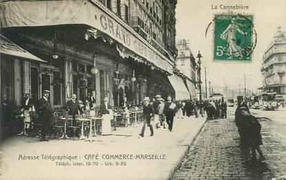 """CPA FRANCE 13 """"Marseille, Grand café du commerce"""""""