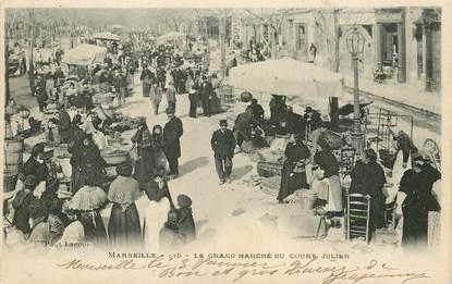 """CPA FRANCE 13 """"Marseille, Le grand marché du cours Julien"""""""