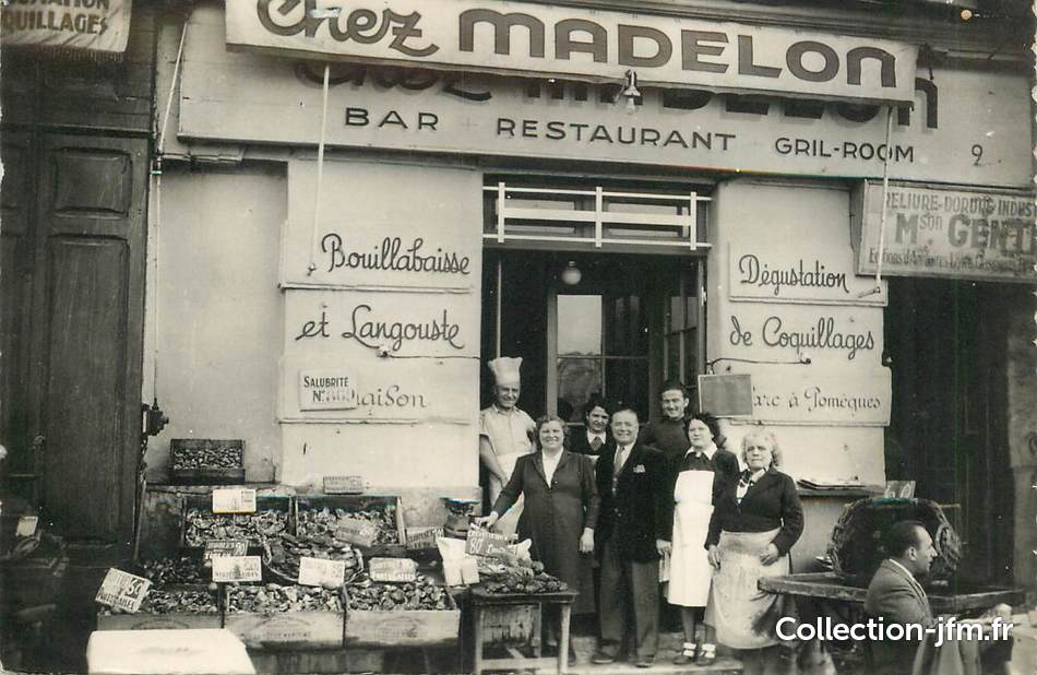 Cpsm france 13 marseille restaurant chez madelon 13 for Restaurant chez marie marseille