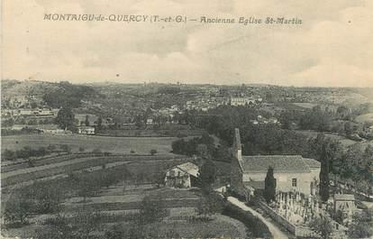 "/ CPA FRANCE 82 ""Montaigu de Quercy, ancienne église Saint Martin"""