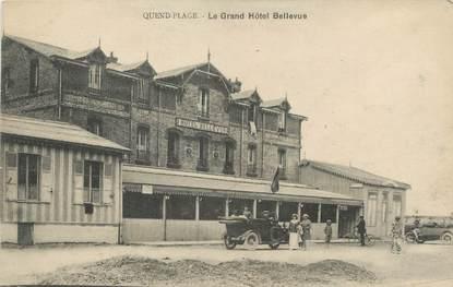 """/ CPA FRANCE 80 """"Quend plage, le grand hôtel Bellevue"""""""