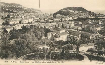 """/ CPA FRANCE 06 """"Nice, panorama, le château et le Mont Boron"""""""