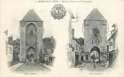 """/ CPA FRANCE 77 """"Moret sur Loing, porte du pont"""""""