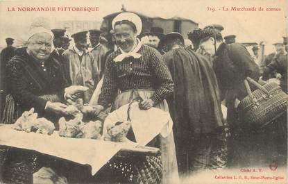"""/ CPA FRANCE 50 """"La Marchande de Cornus"""""""