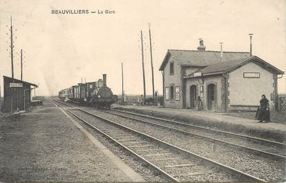 "CPA FRANCE 28 ""Beauvilliers, la Gare"" / TRAIN"