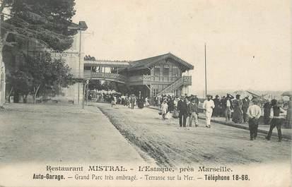 Cpa france 13 l 39 estaque restaurant mistral auto garage for Garage louis marseille