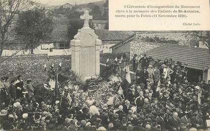 """CPA FRANCE 13 """"Saint Antoine, cérémonie d'inauguration du monument aux morts, 1920"""" /   BANLIEUE DE MARSEILLE"""