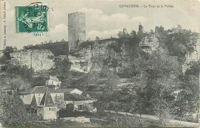 """/ CPA FRANCE 47 """"Gavaudun, la tour et la vallée"""""""