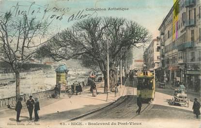 "/ CPA FRANCE 06 ""Nice, bld du Pont Vieux"" / TRAMWAY"