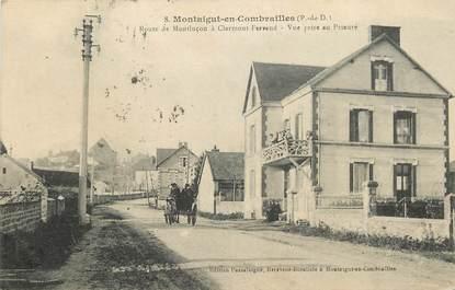 """CPA FRANCE 63 """"Montaigut en Combrailles, Rte de Montluçon à Clermont Ferrand"""""""