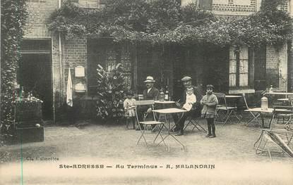 """CPA FRANCE 76 """"Le Havre Sainte Adresse, Restaurant Au Terminus, Pr A. Malandain"""""""