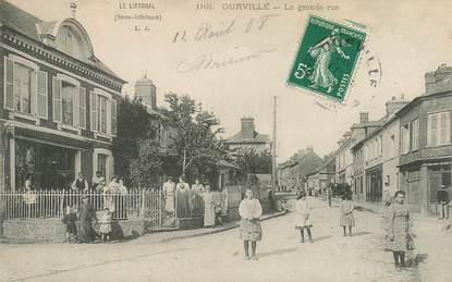 """CPA FRANCE 76 """"Ourville, la grande rue"""""""