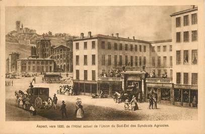 cpa france 69 lyon aspect vers 1830 de l 39 h tel actuel de l 39 union du sud est des syndicats. Black Bedroom Furniture Sets. Home Design Ideas