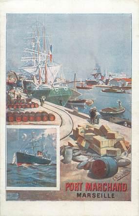 Cpa france 13 marseille port marchand 13 bouches du for Piscine du port marchand