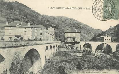 """/ CPA FRANCE 07 """"Saint Sauveur de Montagut, route du Cheylard"""""""