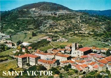 """/ CPSM FRANCE 07 """"Saint Victor, vue générale aérienne"""""""