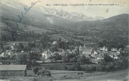 """/ CPA FRANCE 38 """"Theys, vue générale et la Chaine de Belledonne"""""""