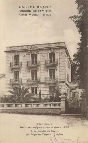 """/ CPA FRANCE 06 """"Nice, Castel Blanc, pension de famille"""""""