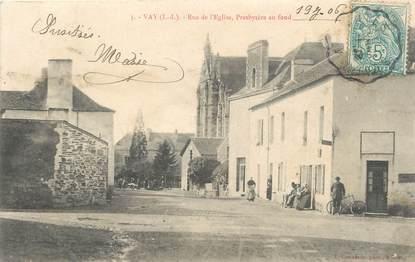 """/ CPA FRANCE 44 """"Vay, rue de l'église, presbytère au fond"""""""