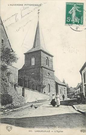 "CPA FRANCE 63 ""Laqueuille, l'Eglise"""