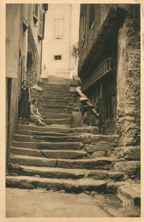 "/ CPA FRANCE 09 ""Ax Les Thermes, rue des escaliers"""