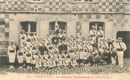 "CPA FRANCE 27 "" Verneuil, la Jeunesse vernolienne, 1909"""
