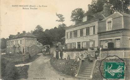 """CPA FRANCE 27 """" Saint Maclou, La Fosse, Maison Porcher"""""""