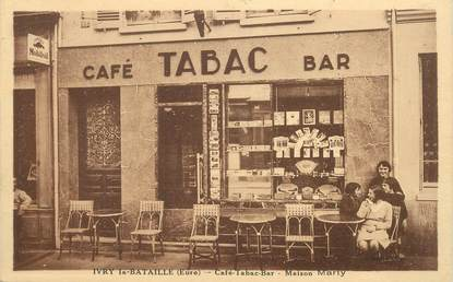 "CPA FRANCE 27 "" Ivry la Bataille, Maison Marty, Café Tabac"""