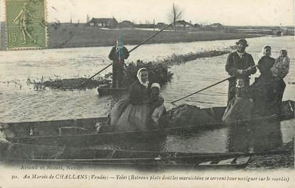 """/ CPA FRANCE 85 """"Au Marais de Challans, Yoles"""""""