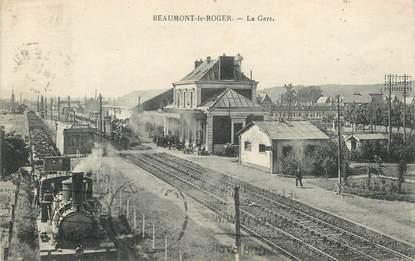 "CPA FRANCE 27 "" Beaumont le Roger, la Gare"" / TRAIN"