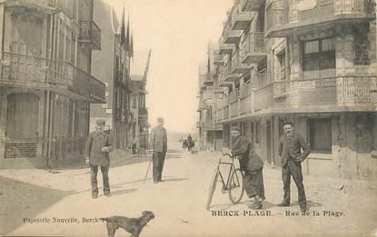 "/ CPA FRANCE 62 ""Berck Plage, rue de la plage"""