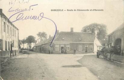 "/ CPA FRANCE 59 ""Oudezeele, route de Stenvoorde et d'Herzeele"""