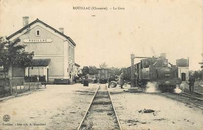 """CPA FRANCE 16 """"Rouillac, la gare"""" / TRAIN"""