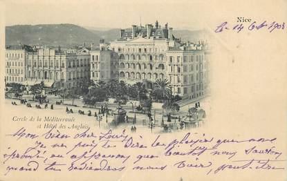 """/ CPA FRANCE 06 """"Nice, cercle de la Méditérannée et hôtel des Anglais"""""""