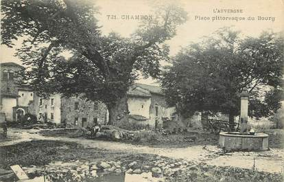 """CPA FRANCE 63 """"Chambon, place pittoresque du bourg"""""""